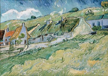 Van Gogh, Vincent: Cottages at Auvers-sur-Oise. Fine Art Print/Poster. Sizes: A4/A3/A2/A1 (001493)
